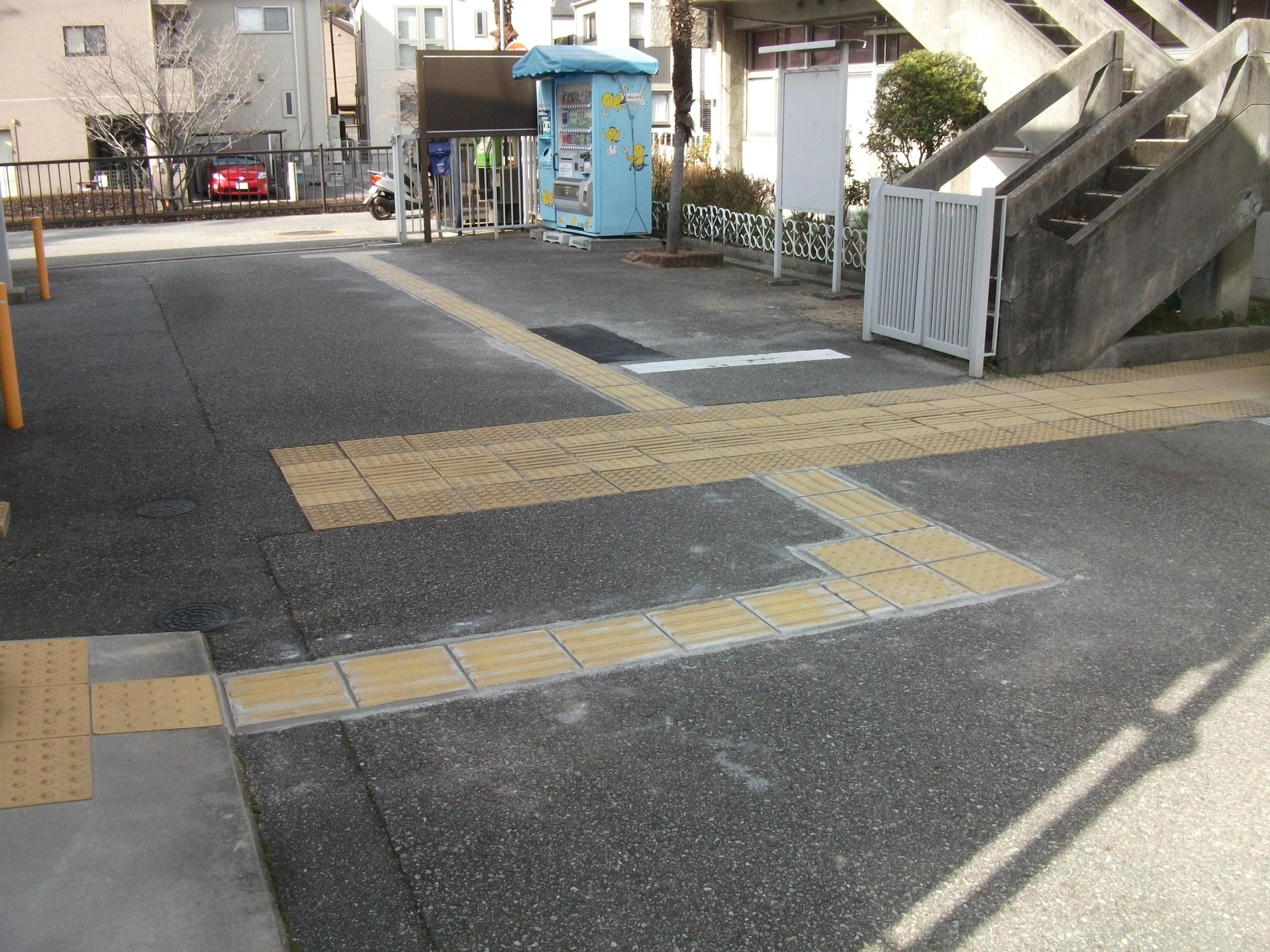 宝塚市 点字ブロック補修工事イメージ01