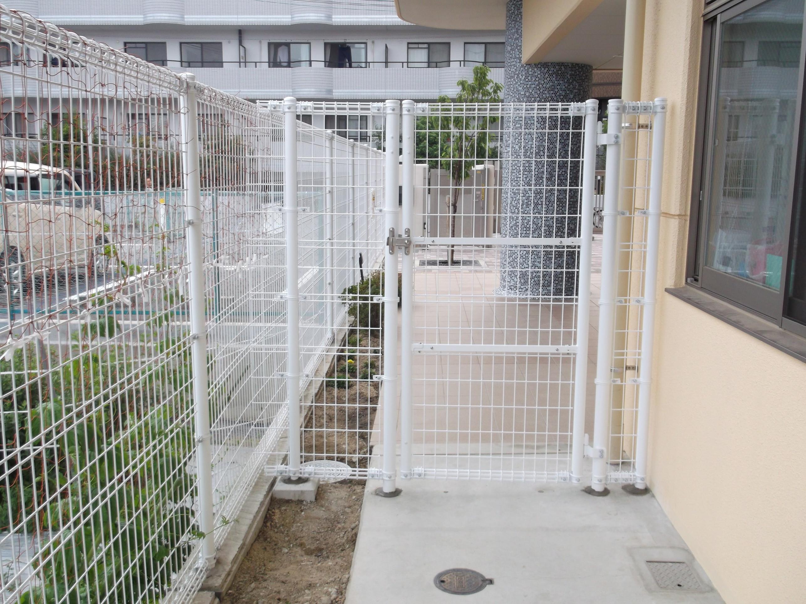 宝塚市 保育園 フェンス設置イメージ01