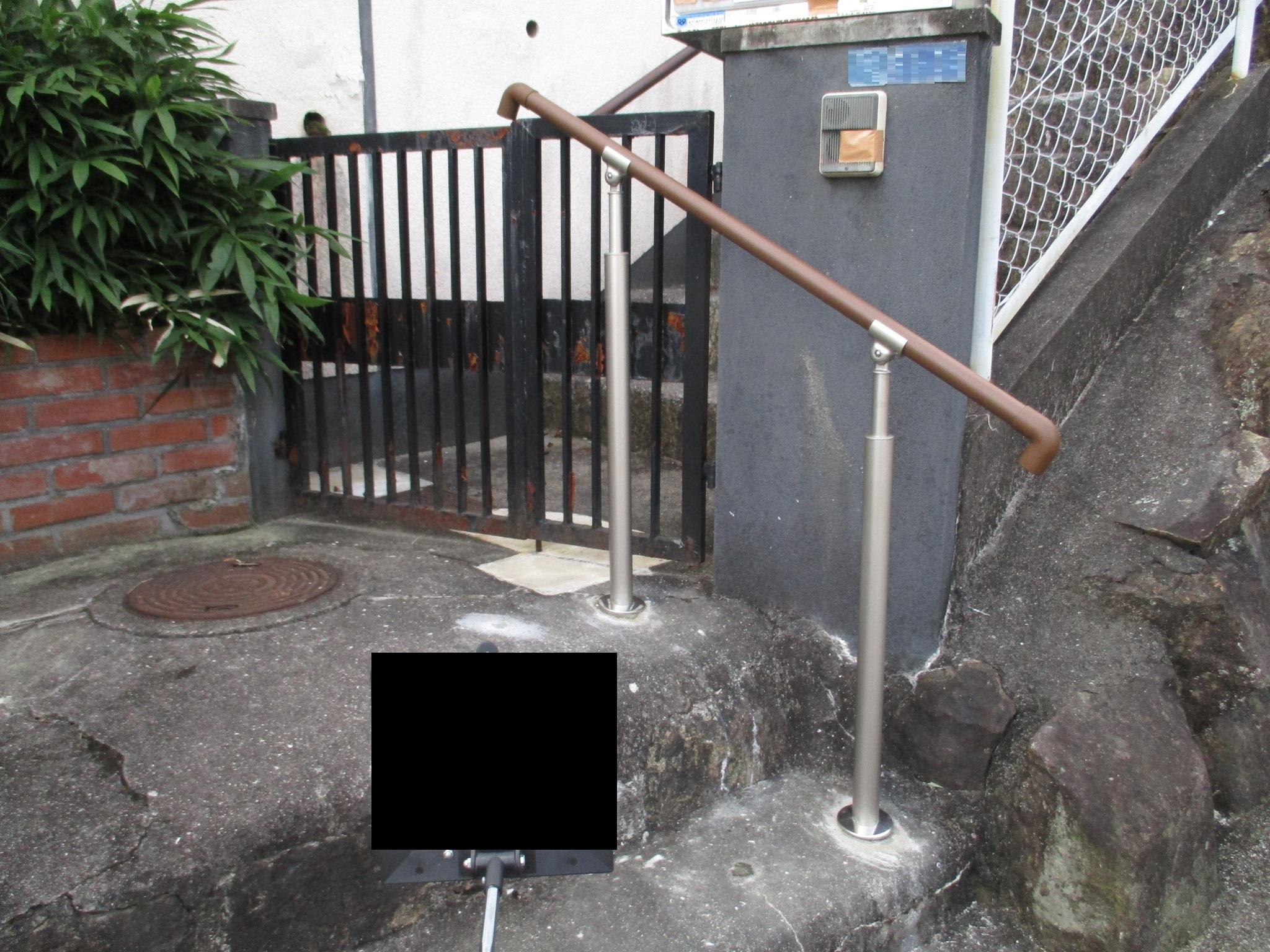 宝塚市 外部階段手摺設置工事イメージ01