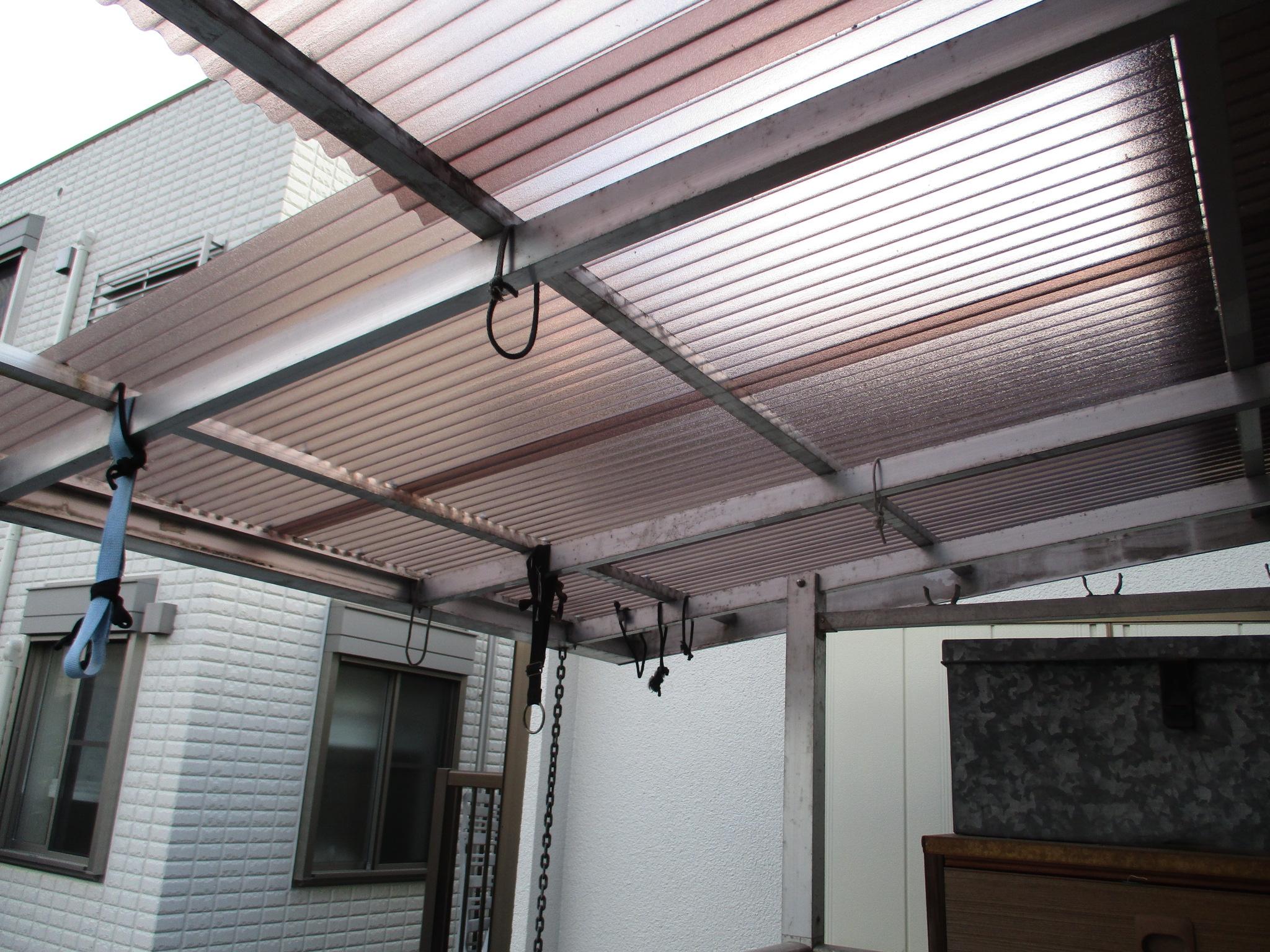 宝塚市 バルコニー屋根張替え工事イメージ01