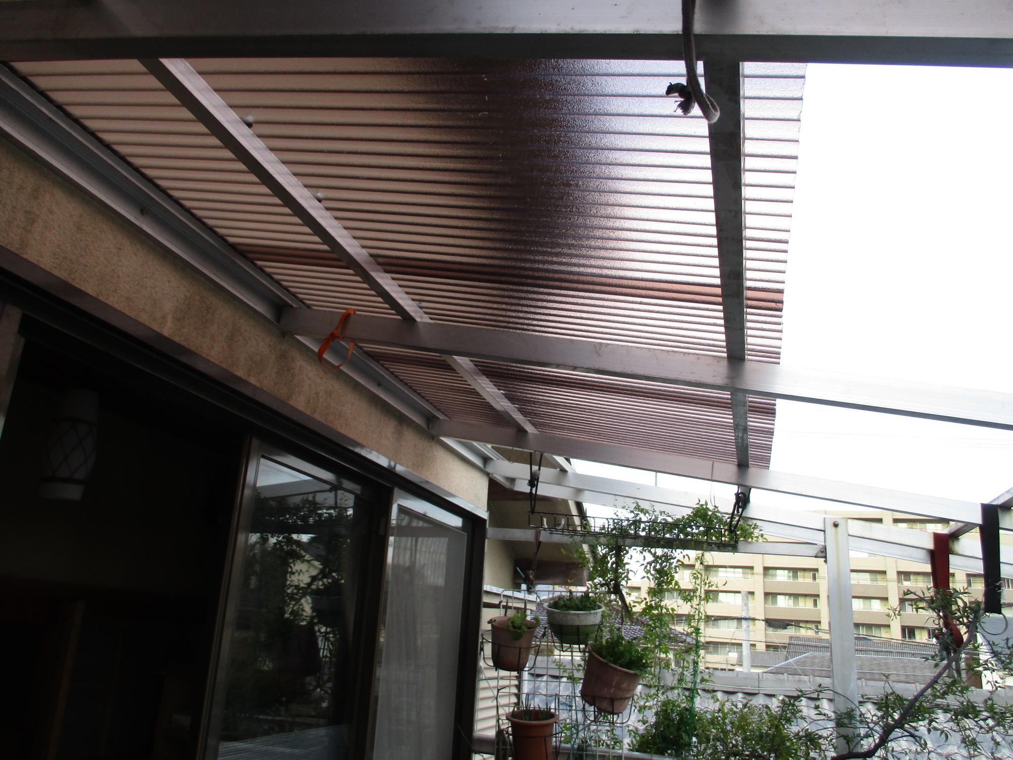 宝塚市 バルコニー屋根張替え工事イメージ02