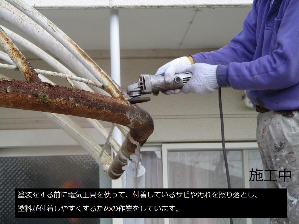 宝塚市 保育園 テント張替及び鉄部塗装工事イメージ04