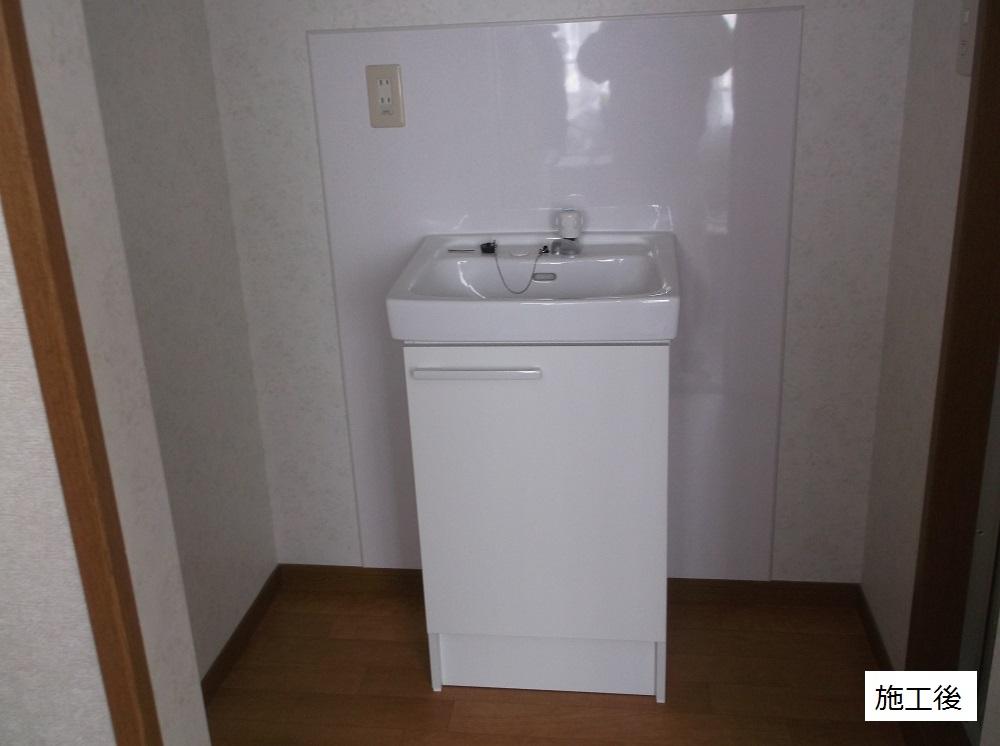 宝塚市 施設 洗面台取付工事イメージ01