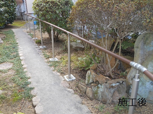 宝塚市 外部手摺設置工事イメージ01