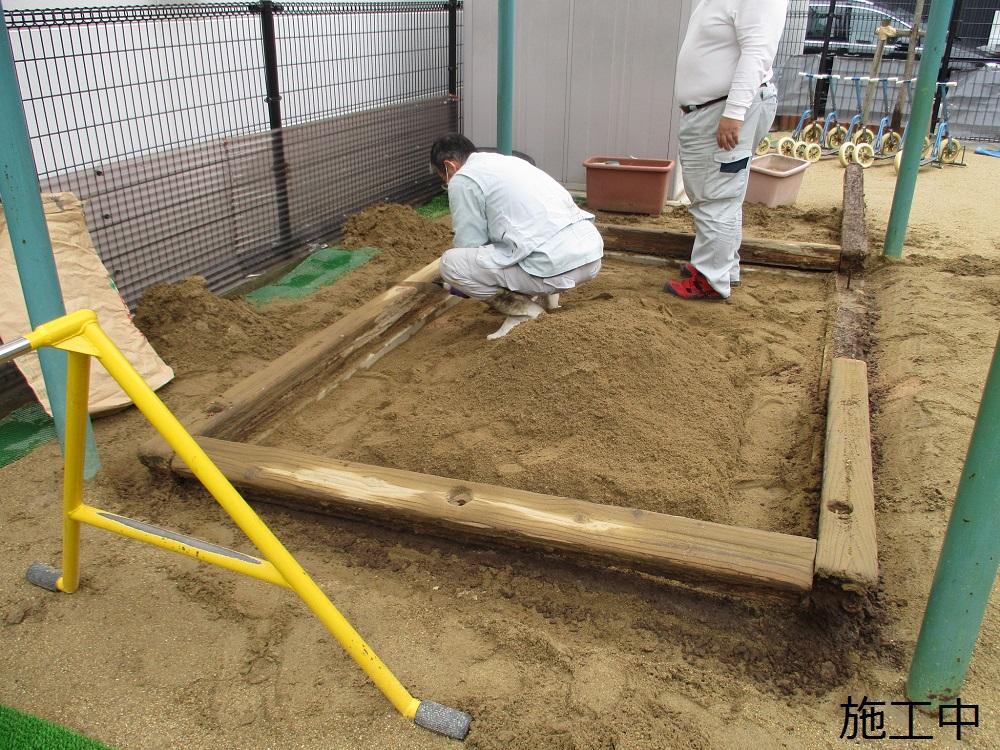宝塚市 保育園 砂場枠修繕イメージ05