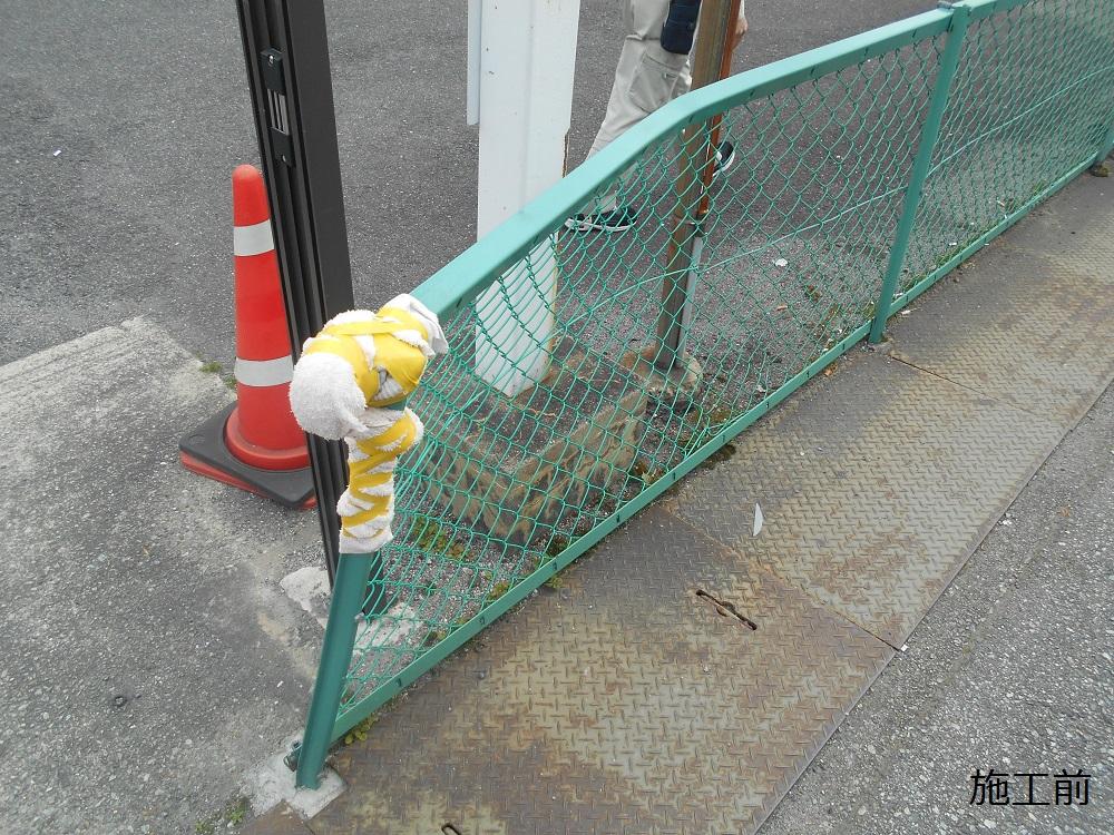宝塚市 公共施設 駐車場フェンス補修工事イメージ03