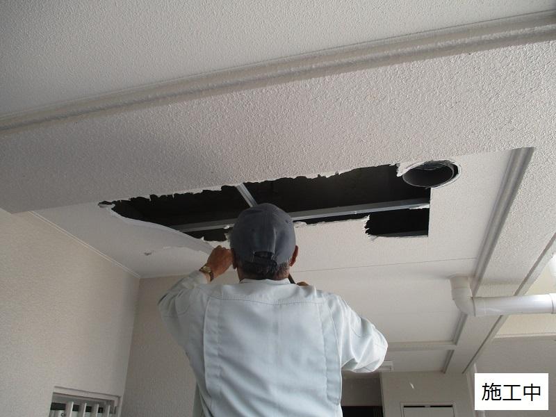 神戸市 マンション 共用廊下天井補修工事イメージ04