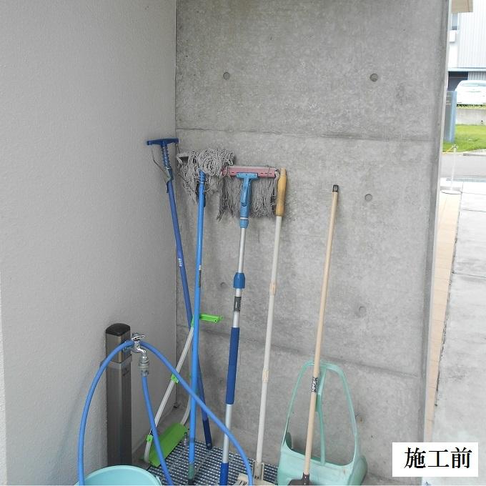池田市 施設 守衛室箒掛けフック設置工事イメージ02