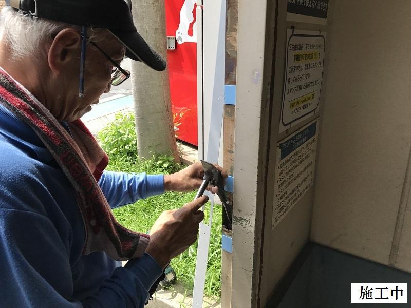 宝塚市 商業施設 立体駐車場入口鉄扉取替イメージ06