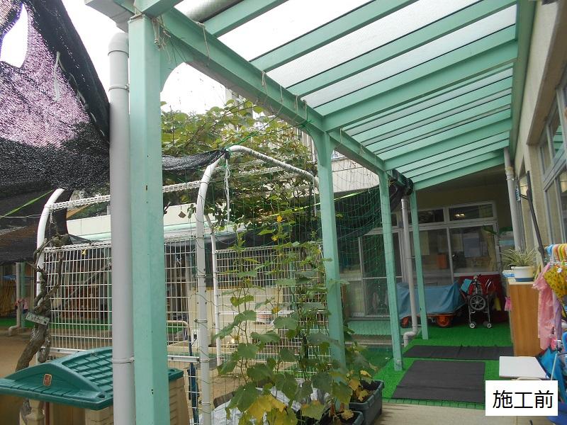 宝塚市 保育園 雨除け用波板庇設置イメージ02