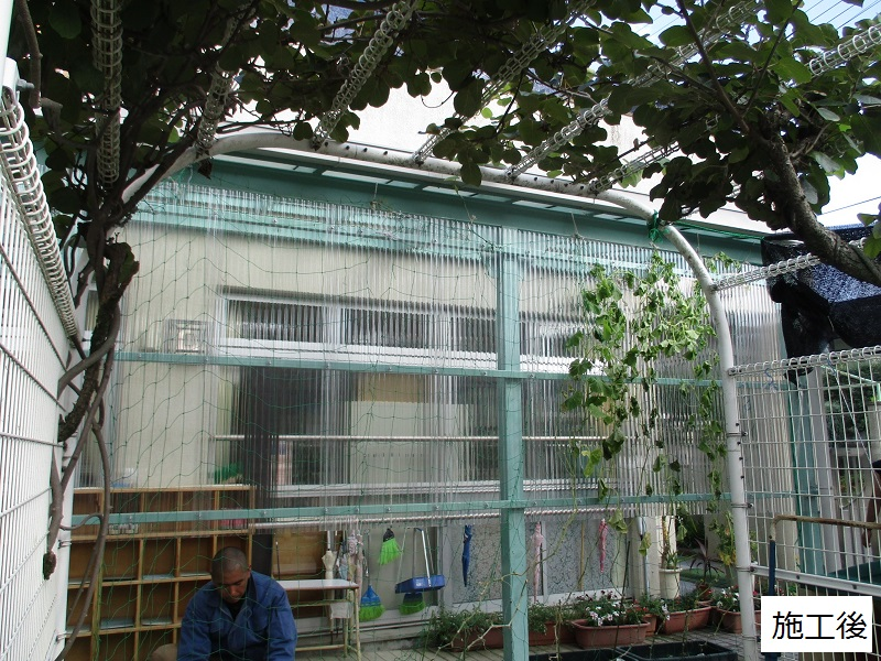 宝塚市 保育園 雨除け用波板庇設置イメージ08