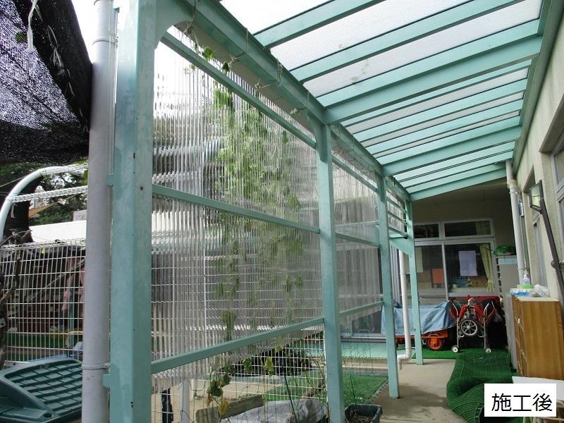 宝塚市 保育園 雨除け用波板庇設置イメージ01