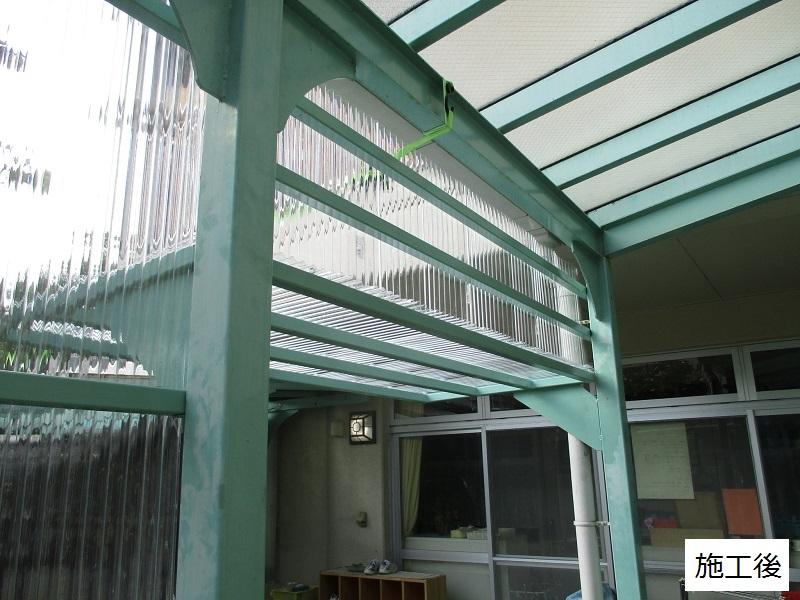 宝塚市 保育園 雨除け用波板庇設置イメージ09