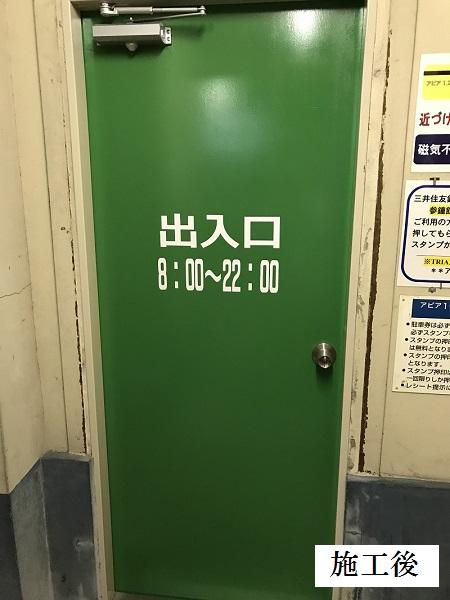 宝塚市 商業施設 立体駐車場入口鉄扉取替イメージ01