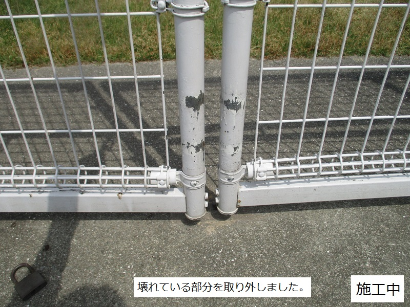 尼崎市 マンション フェンス門扉修繕工事イメージ03