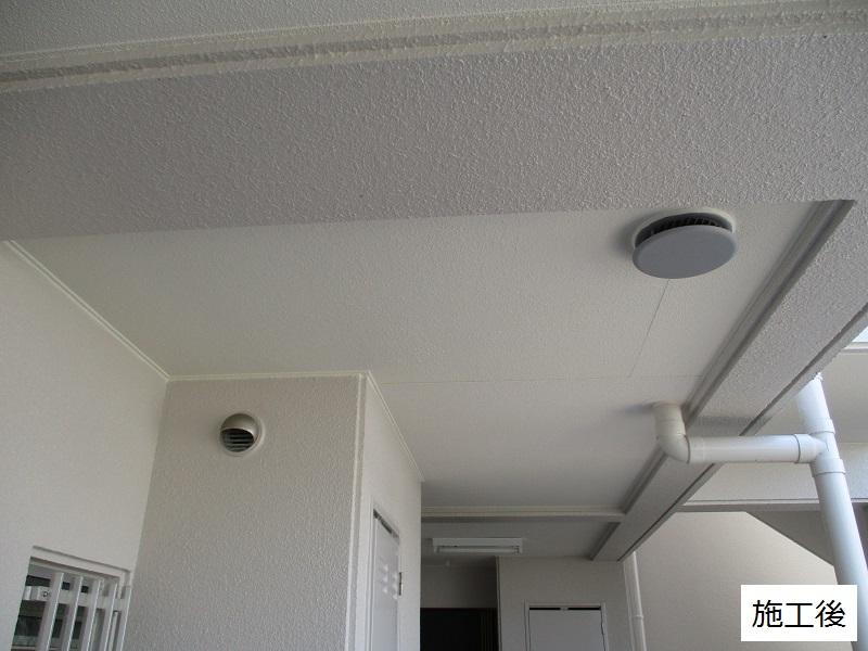 神戸市 マンション 共用廊下天井補修工事イメージ01