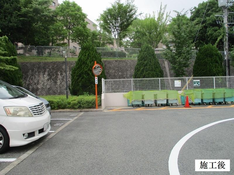 神戸市 マンション カーブミラー設置他工事イメージ02