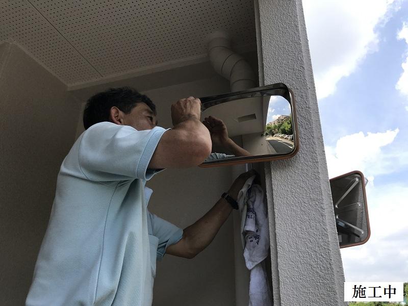 神戸市 マンション カーブミラー設置他工事イメージ09