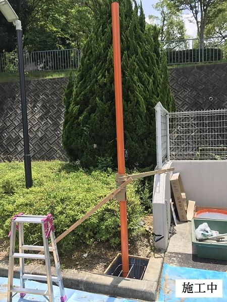 神戸市 マンション カーブミラー設置他工事イメージ07
