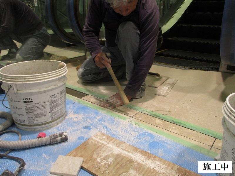 宝塚市 商業施設 エスカレーター乗降口床修繕工事イメージ07