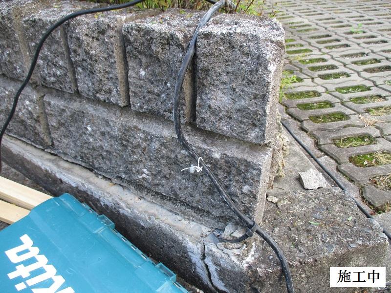神戸市 マンション 駐車場化粧ブロック補修工事イメージ02