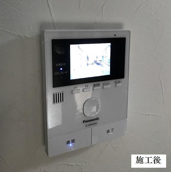 宝塚市 インターホン・防犯用ライト取替工事イメージ01