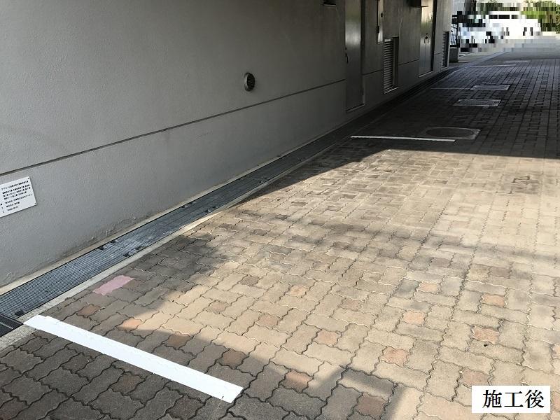 尼崎市 マンション 駐車駐輪ライン引き工事イメージ01