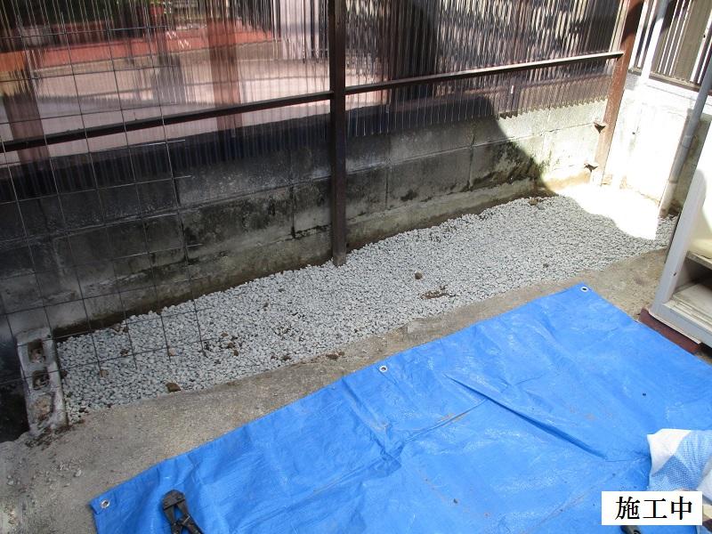 宝塚市 ポリカ波板撤去・土間コンクリート舗装工事イメージ06