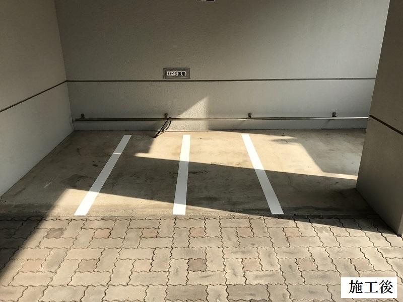 尼崎市 マンション 駐車駐輪ライン引き工事イメージ02