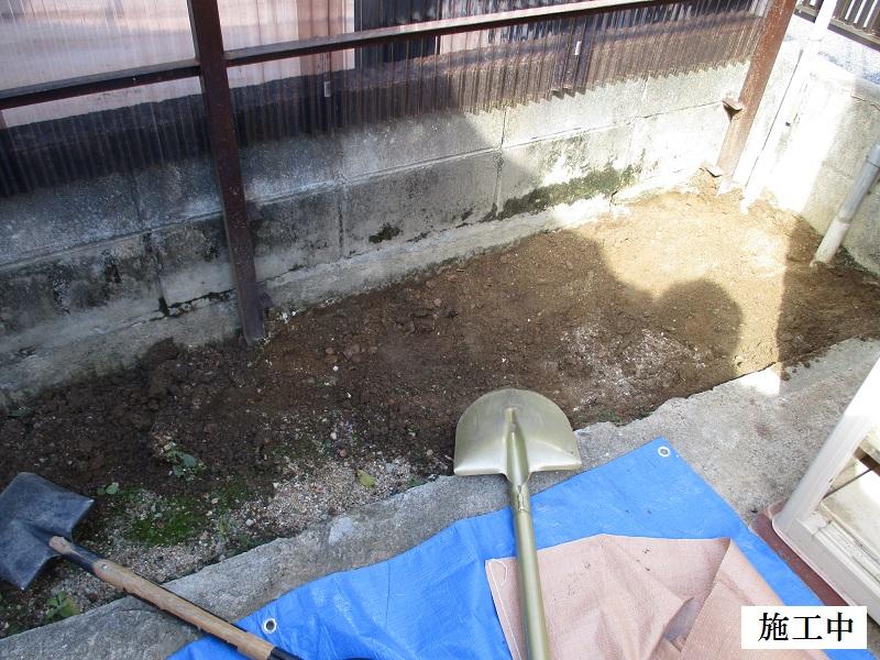 宝塚市 ポリカ波板撤去・土間コンクリート舗装工事イメージ04