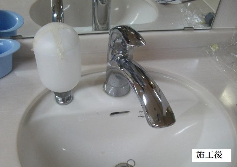 宝塚市 施設 洗面水栓カートリッジ取替イメージ01