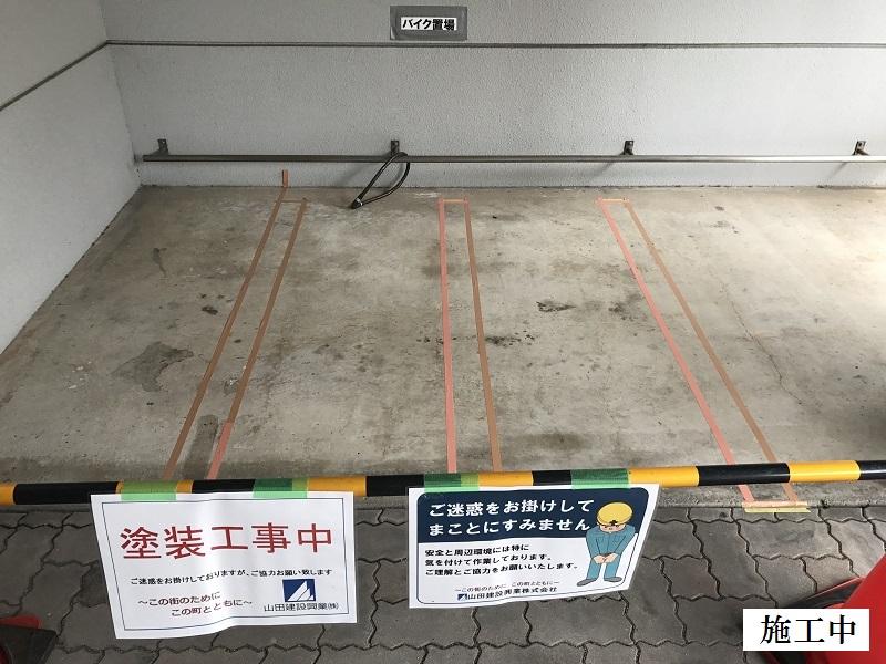 尼崎市 マンション 駐車駐輪ライン引き工事イメージ05