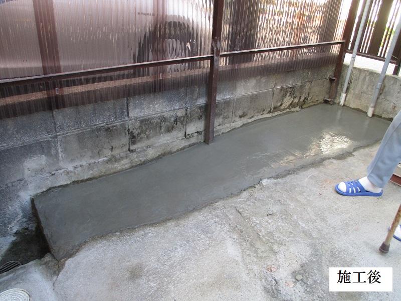 宝塚市 ポリカ波板撤去・土間コンクリート舗装工事イメージ09