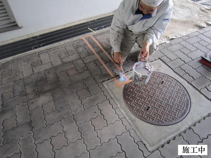 尼崎市 マンション 駐車駐輪ライン引き工事イメージ07