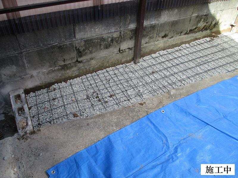 宝塚市 ポリカ波板撤去・土間コンクリート舗装工事イメージ07