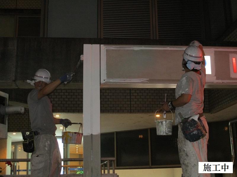 宝塚市 商業施設 駐車場入口ゲート塗装工事イメージ05