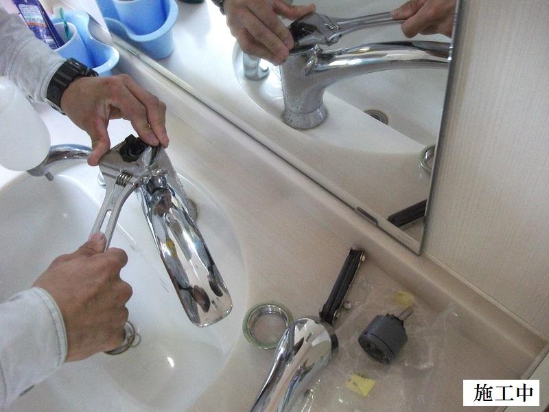 宝塚市 施設 洗面水栓カートリッジ取替イメージ04