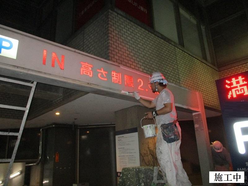 宝塚市 商業施設 駐車場入口ゲート塗装工事イメージ04