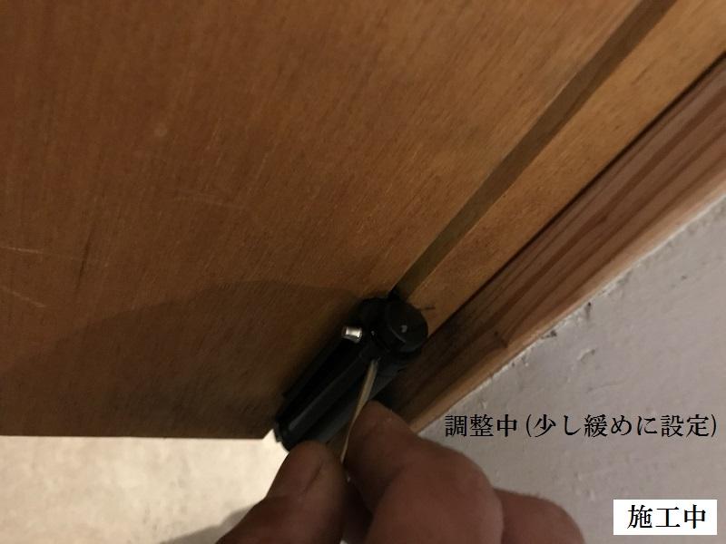 宝塚市 店舗 厨房スイングドア丁番取替イメージ06