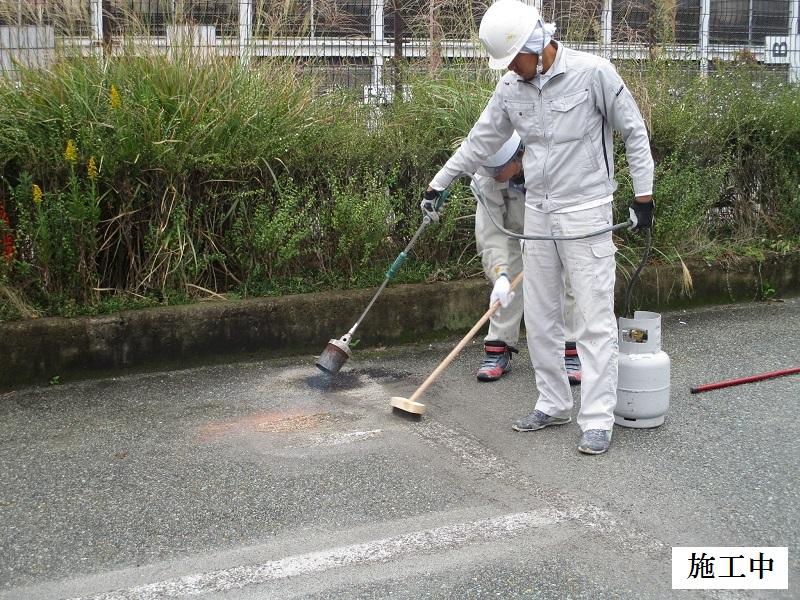 宝塚市 公共施設 駐車場ライン消去工事イメージ08