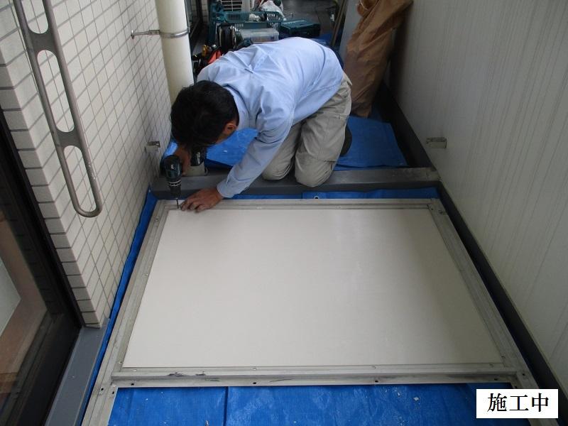宝塚市 マンション バルコニー隔て板修繕工事イメージ04