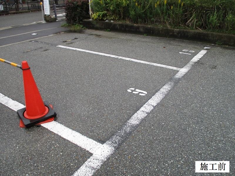 宝塚市 公共施設 駐車場ライン消去工事イメージ03