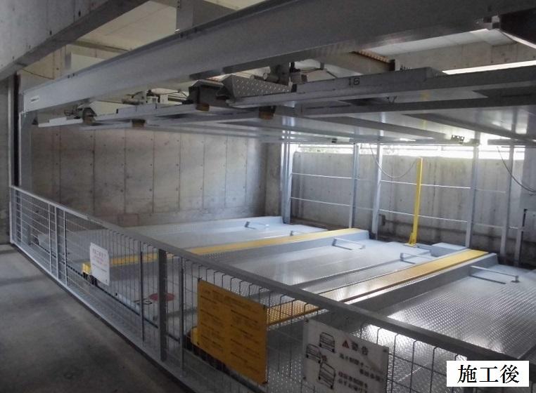 宝塚市 マンション 機械式駐車設備塗装工事イメージ01