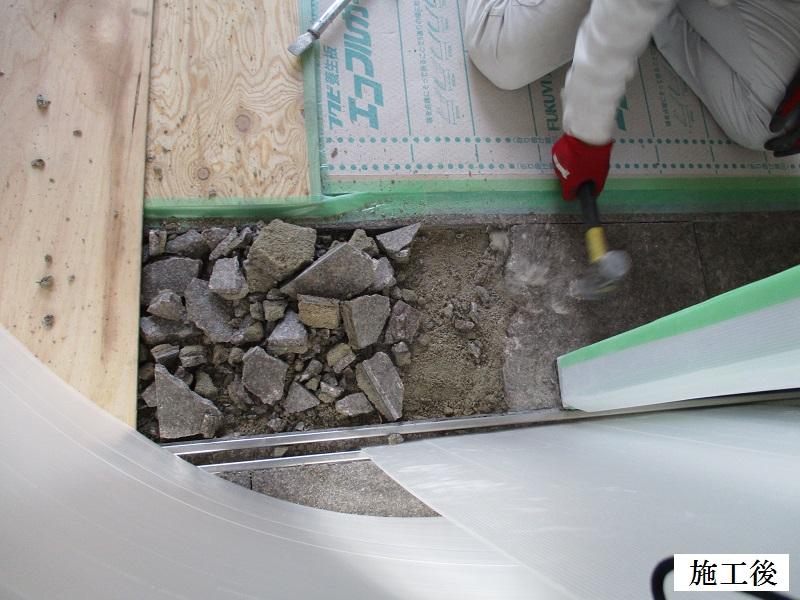 宝塚市 マンション 自動ドアレール修繕工事イメージ04