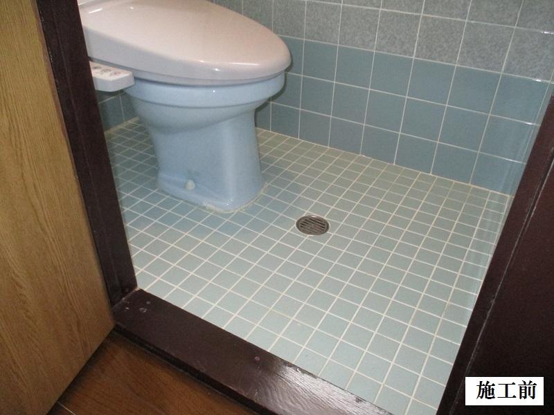 宝塚市 トイレ床CFシート敷き工事イメージ02
