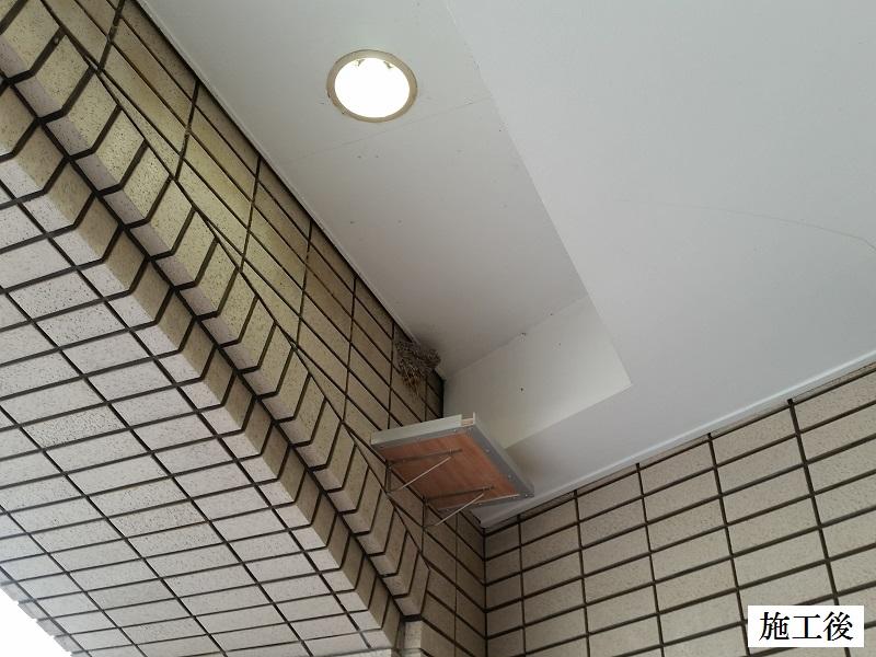 宝塚市 商業施設 連絡通路ツバメ糞除け設置イメージ01