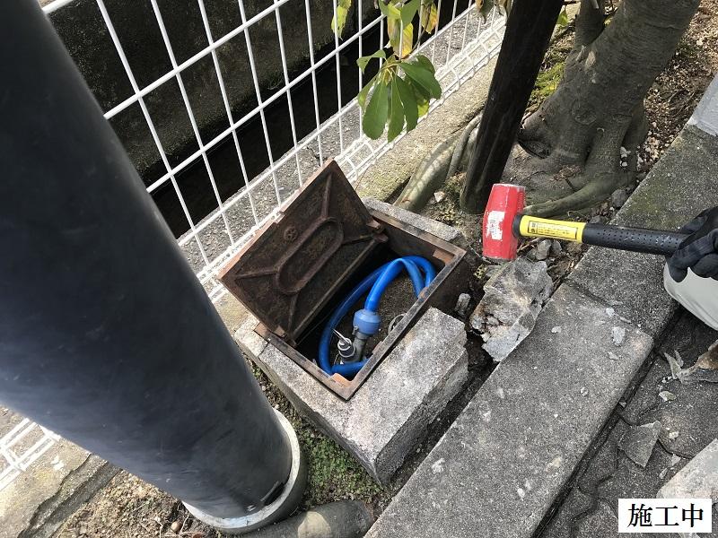 尼崎市 マンション 散水BOX修繕工事イメージ04