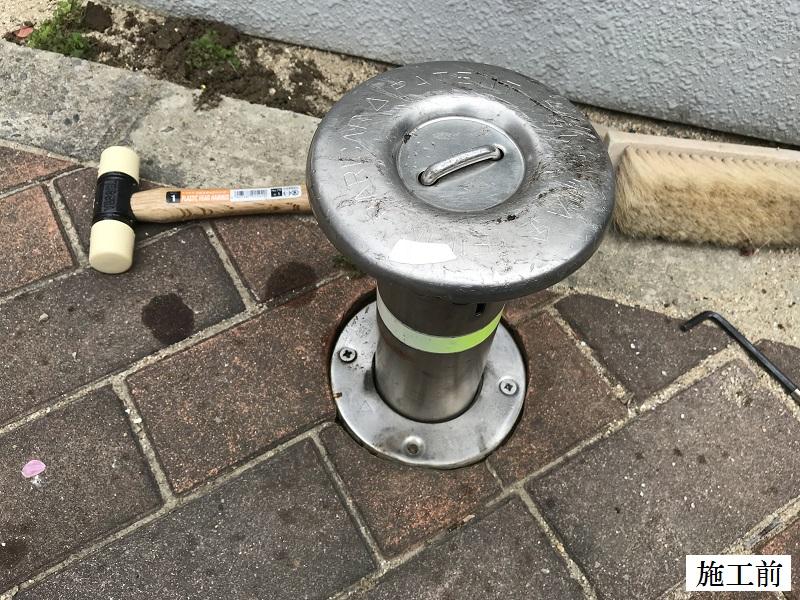 伊丹市 マンション 駐輪場ポール清掃・修繕工事イメージ07