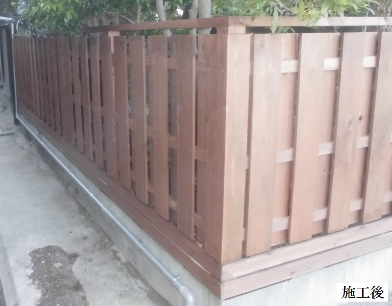 宝塚市 板塀のリフォーム工事イメージ01