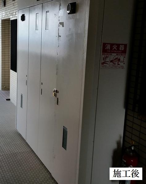 宝塚市 マンション PS扉修繕工事イメージ01